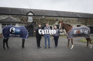 Launch of the 2018 Foran Equine Irish EBF Auction Series - Nessa Joyce, Irish EBF, Patrick Prendergast and Kirsty McCann, Foran Equine with Sunday Smart and Red Persian