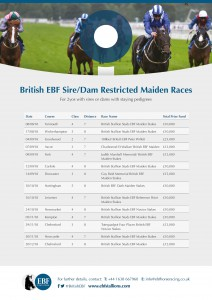 EBF Sire and Dam Restricted Maidens 2018